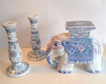 Large Porcelain Elephant Stool Blue and Candle stick Holders & Elephant stool | Etsy islam-shia.org