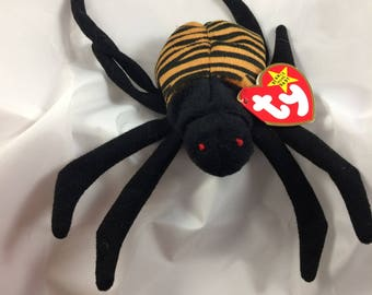Ty Beanie Baby Spinner the Spider Original MWT October 28, 1996 Gift Quality