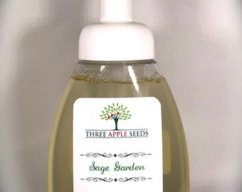 Sage Garden Hand Soap, Natural Foaming Hand Soap, Organic Sage Foaming Hand Soap, Sage Organic Hand Soap, Sage Essential Oil Soap,