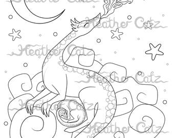 Dragon Cloud - Colouring Page