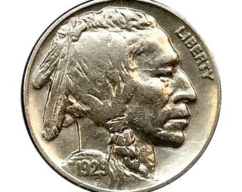 1929 P Buffalo Nickel - AU / Almost Uncirculated