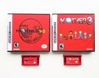 Mother 1 + 2 + 3 w/ case (ALL GAMES) English Fan Translation - Earthbound Nintendo Game Boy Advance GBA Custom
