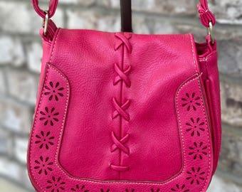 Pink Hobo Messenger Bag