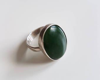 925 Silver ring - KIRSTEN FJORD - Næstved - Denmark - modernist - boho - 80's