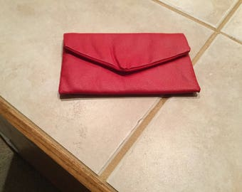 Faux leather pouch