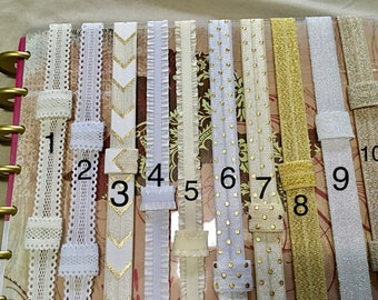 Gold Custom PLANNER BAND: Cream Happy Planner, Create 365, Erin Condren, Planner accessories, Elastic Band, Plum Paper & many more