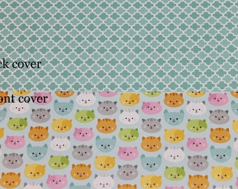 Kitty Planner Cover Custom, Happy planner cover, ARC cover, Discbound, Any size, custom planner cover-Cats, Kitty