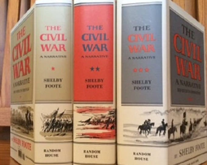 Shelby Foote's The Civil War-A Narrative 3 volume Hardcover Set (NEAR MINT)