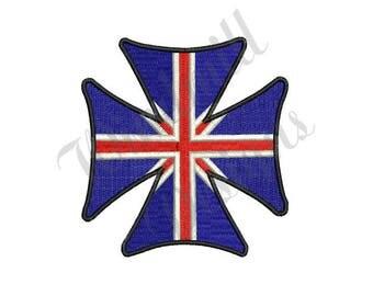 UK Maltese Cross - Machine Embroidery Design