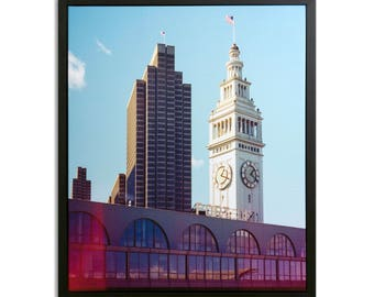 "Fine Art Photography ""Port of San Francisco"" Framed Stretched Canvas"