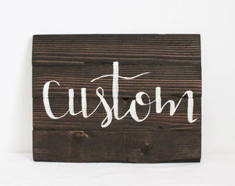 Custom Wood Sign - Namrata