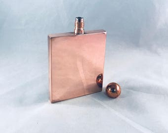 The Gentleman's Square Copper Flask