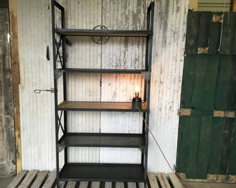 Large industrial bookcase