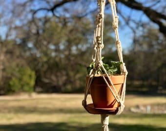 Cotton Macrame Plant Hanger-Knotty