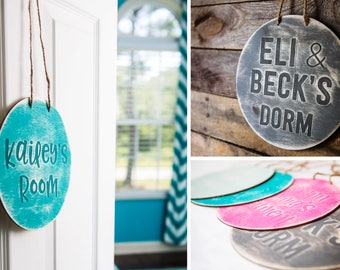 Room Signs // Perfect for Dorm and Apartment College gift for graduation wooden personalized sign