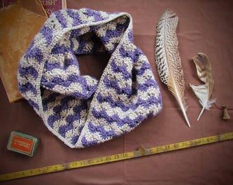 Calunna Hills Cowl, crochet pattern, pdf, written pattern