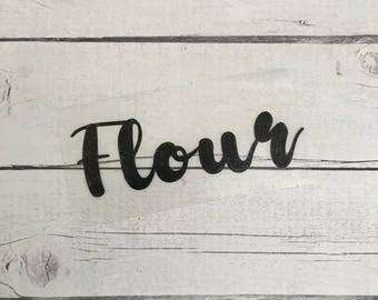 Flour label, Flour decal, Kitchen label, Kitchen decal, Pantry label, Pantry decal, Canister label, Canister decal, Jar label, Jar decal