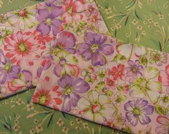 Set of Vintage Bibb Floral Pillowcases