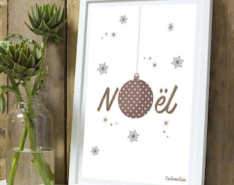 Christmas * Christmas A4 poster without frame
