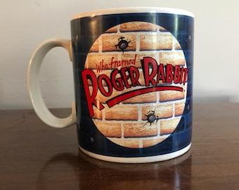 Vintage 1987 Who Framed Roger Rabbit Coffee Mug