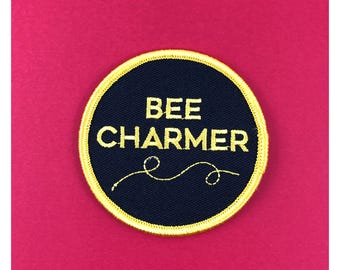 Bee Charmer Fried Green Tomatoes embroidered iron on Patch LGBTQ gay Lesbian queer sexuality homosexual gender gay gift same sex