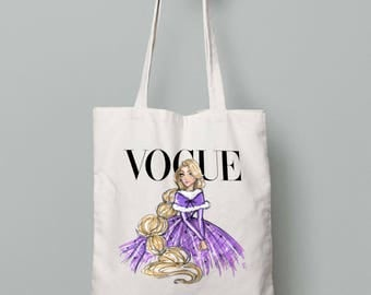 Disney Diva Rapunzel Canvas Tote Bag Shopper Shopping Everyday Gift Present