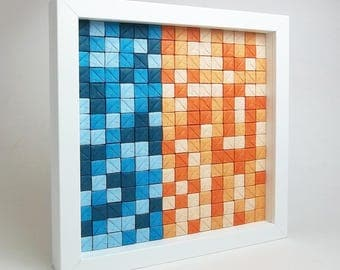 Sonobe Wall Art, modern, abstract, geometric, cubes