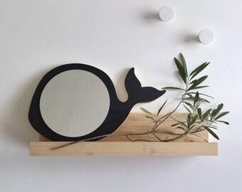 Whale mirror. Child's mirror, baby