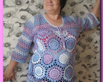 Tunic crochet tunic handmade tunic cotton summer tunic is a great gift clothes for women crochet