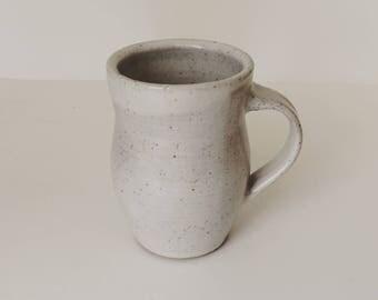 ceramic mug, white mug, coffee mug, handmade ceramic mug,
