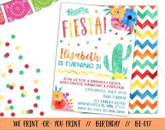 Fiesta Invitation, Fiesta Birthday, Fiesta Invite, Spanish Invitation, Fiesta Birthday Invitation, Mexican Birthday, Mexican Invitation
