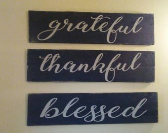 Grateful.Thankful.Blessed. Home Decor. Blessed Home. Housewarming gift.