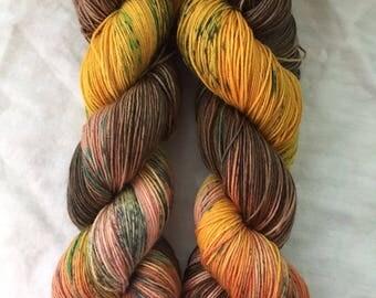 Hand dyed yarn: Yellow Before the Rain-  dye to order