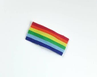Rainbow Hair Clips - Rainbow Snap Clips - Toddler Hair Clips - Girls Snap Clips - Bendy Clips - Rainbow Clips - Girls Hair Clips