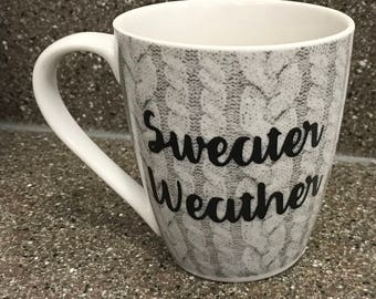 Sweater Weather mug, mug, coffee lover, gift for her