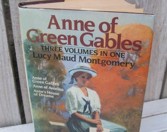 "Vintage Book Fiction ""ANNE OF GREEN Gables""= Three Volumes ""Anne of Avonlea"" ""Anne's House of Dreams=Hardcover Anne of Green Gables Trilogy."