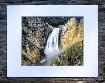 Lower Yellowstone Falls - Yellowstone National Park, Wyoming (8x10 matted print)