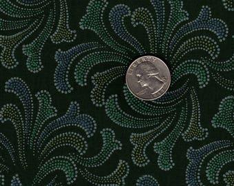 "Quilters 1/4 (18"" x 22"") Jinny Beyer Green on Green Firework Splash RJR Vintage Fabric"