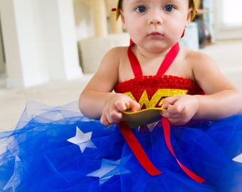 Wonder women tutu set, Wonder woman baby costume,Wonder women toddler Outfit, Wonder women birthday baby tutu,Wonder women tutu,Wonder women