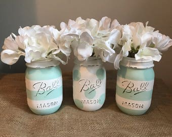 Multipurpose Mason Jar Decor Set.  Bathroom Jar Set.  Wedding Decor.  Mason Jar Home Decor