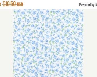 ON SALE light blue floral cotton print
