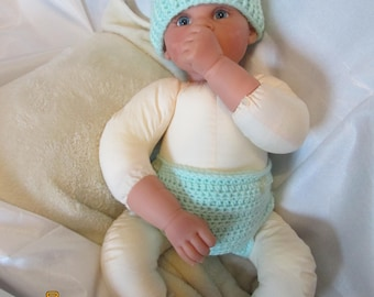 St. Patrick's Day Mint Green w/Green Shamrock Diaper Cover and Hat- Costume Adorable Photo Prop!