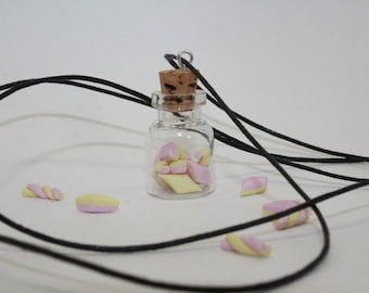 Small bottle with Bacon-glass bottle with Cork-Pendant
