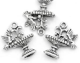 5 charms fountain bird animal Charms pendants