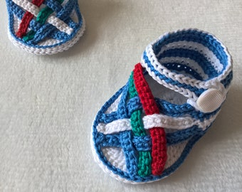 Color Baby Sandals. Crochet Pattern. INSTANT DOWNLOAD