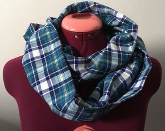 Flannel Plaid Infinity Scarf