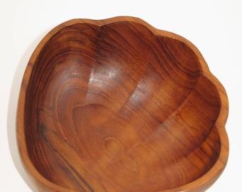Vintage 60s teak wood bowl