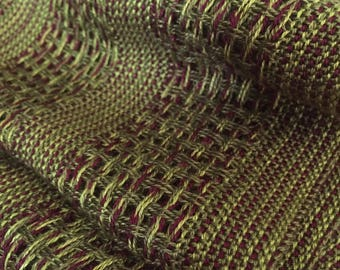 Handwoven Tencel Scarf Lemongrass, Olive and Fuschia