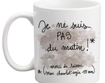 Mug I'm not morning chocolate version - original gift