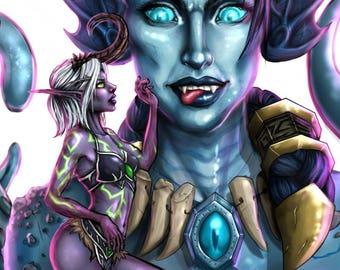 CUSTOM World of Warcraft Illustration